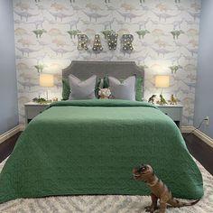 56 Stunning Bedroom Desing - Page 16 of 56 - Lily Fashion Style Dinosaur Wallpaper, Aesthetic Value, Bedroom Images, Cozy Nook, Kids Room Design, Kids Decor, Home Decor, Boy Room, Kids Bedroom