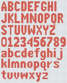 Free Knitted Alphabet and Numbers chart courtesy of Deborah's Knitting.