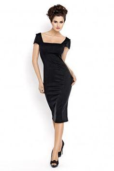 Das kleine Schwarze! Elegantes, sommerliches Damen Kleid. Lang mit engem, femininen Schnitt.