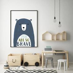 Add a finishing touch to a room with these adorable, high quality prints. Kids Playroom Rugs, Kids Playroom Storage, Kids Playroom Furniture, Playroom Wall Decor, Nursery Decor Boy, Playroom Organization, Playroom Quotes, Playroom Table, Kid Decor