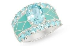 I think this is so pretty!!  blue-topaz-and-enamel-sterling-silver-mosaic-ring