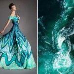Artista cria vestidos inspirados na natureza