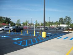 Asphalt marking and ADA compliant signage have been among our most requested services over the years and we have hundreds of satisfied customers to prove it. Install any required signage needed in your parking lot including: • No Parking Signs • Speed Bump Signs • Fire Lane Signs • Baby Stroller Parking Signs • Handicap Signs • Custom signs as required