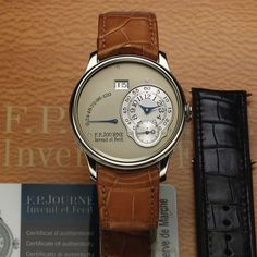 F.P. JOURNE OCTA POWER RESERVE PLATINUM F.P. Journe, Invenit et Fecit, Octa Power Reserve, Automatic, No. 541-A. Sold January 18th, 2013.