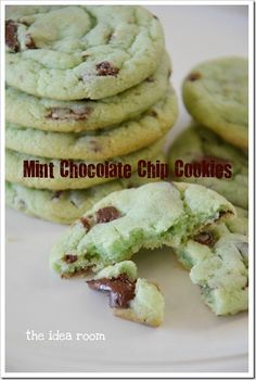 Mint chocolate chip cookies (St Patrick's Day?)