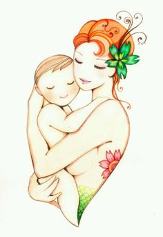 Cute Mother & Son tattoo.. something similar to this