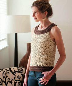Crochetemoda: Top de Crochet ~ Pattern with Diagrams/Charts in English