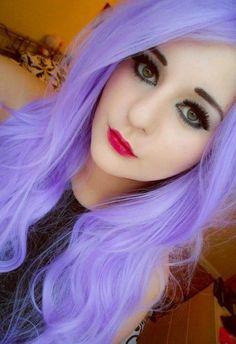 Bright light purple hair