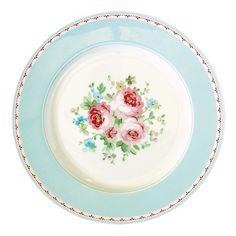GreenGate Spring/Summer 2015 Stoneware Plate Simone White D 20,5 cm