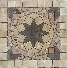 "Stone Tile Indoor or Outdoor 18 "" Floor or Wall Art Medallion Mosaic Stone Deals http://www.amazon.com/dp/B01CYRT174/ref=cm_sw_r_pi_dp_9GW5wb1T6DDFH"