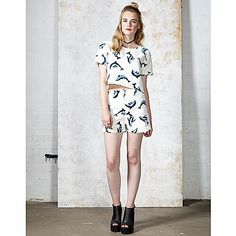 Ark Flipper Dolphin Print Crop Top and Short | ARK Clothing