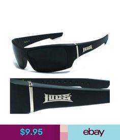 a0a61f1491 Men s Sunglasses Locs Mens Cholo Biker 100% Uv400 Wrap Around Sunglasses -  Matte Black Frame
