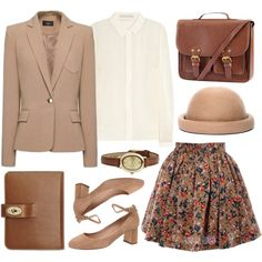 Beige by hanaglatison on Polyvore featuring Jason Wu, Lola Cruz, H&M, Infinite and Mulberry