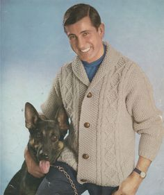 PDF Mens Aran Cardigan / Jacket Knitting Pattern : Mans 34 - 42 inch chest . Instant Digital Downloads by PDFKnittingCrochet on Etsy