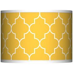 Tangier Yellow Giclee Glow Lamp Shade 13.5x13.5x10 (Spider) -