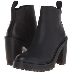 Dr. Martens Magdalena Women's Shoes ($160) ❤ liked on Polyvore featuring shoes, boots, ankle booties, ankle boots, platform booties, short boots, leather platform boots, high heel platform boots and leather platform booties