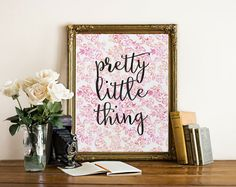 Nursery Quote Nursery Art Pretty Little Thing Nursery Decor Quote Art Wall Art Baby Girl Nursery Wall Decor Wall Art Nursery Prints