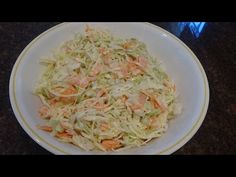 This aint yo mamas slaw! It is sooo delicious and perfect with almost any meal and definitely a must have at any BBQ Tofu Recipes, Vegetable Recipes, Salad Recipes, Cooking Recipes, Cole Slow, Chicken Macaroni Salad, Potato Salad Dressing, Homemade Pie Crusts, Cabbage Salad