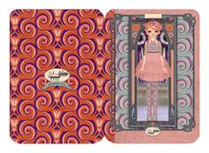 5 Stylish and elegant Designer Greeting Card with envelope from the design of the Italian illustrator Simona Bursi for Oxfordoll.  Card are blank