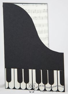 The Crafty Owl's Blog | Piano Card thank you