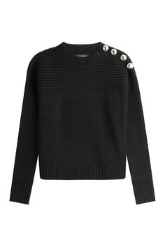 Tara Jarmon Wool Pullover with Metal Buttons, $369; stylebop.com
