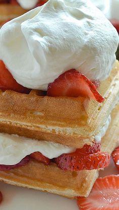 Gluten Free Strawberry Shortcake Waffles (I've used GF Bisquick and Pamela's)