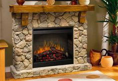 Buy the Dimplex undefined undefined Direct. Shop for the Dimplex undefined undefined Fieldstone Self-Trimming Electric Fireplace with Rustic Mantel and save. Rustic Fireplaces, Faux Fireplace, Fireplace Inserts, Fireplace Design, Fireplace Mantels, Wall Fireplaces, Fireplace Ideas, Stone Fireplaces, Rustic Mantel