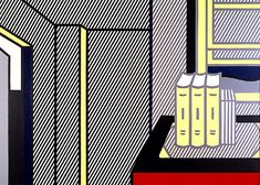 'Interior with Account Books', Oil by Roy Lichtenstein United States) Roy Lichtenstein Pop Art, Industrial Paintings, Modern Pop Art, Acrylic Panels, Comic Book Style, Oil Painters, Still Life Art, Your Paintings, New Art