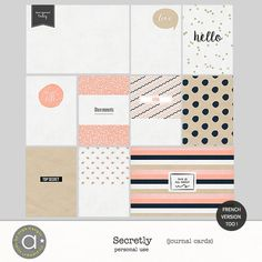 Secretly - Journal cards :: PROJECT 365   LIFE :: Memory Scraps