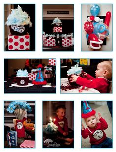 thing 1& 2 birthday party