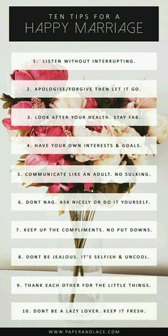 10 Tips for a Happy Marriage - i think these apply for any relationship Marriage Relationship, Marriage Advice, Love And Marriage, Strong Marriage, Happy Marriage Tips, Marriage Goals, Successful Marriage, Happy Marriage Quotes, Marriage Help