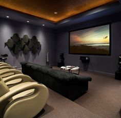 Game Rooms/Media - contemporary - Home Theater - JAUREGUI Architecture Interiors Construction