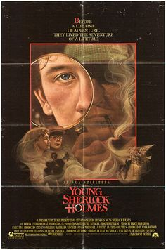 Young Sherlock Holmes posters for sale online. Buy Young Sherlock Holmes movie posters from Movie Poster Shop. We're your movie poster source for new releases and vintage movie posters. Classic 80s Movies, Vintage Movies, Top Movies, Movies To Watch, Young Sherlock Holmes, O Enigma, Holmes Movie, Super 8, Mystery Film