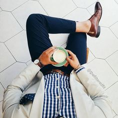 Cup of Joe with a splash of fashion. Find your Inspiration @ #DapperNDame Pinterest. dapperanddame.com