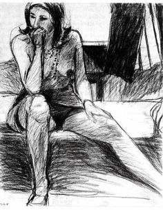 Richard Diebenkorn, unknown on ArtStack #richard-diebenkorn #art