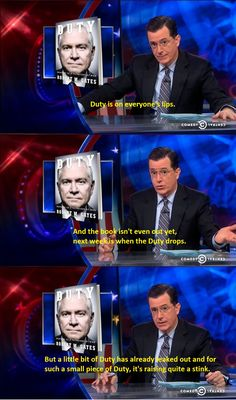 Colbert discusses Duty