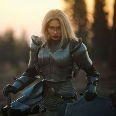 Post with 1801 votes and 89060 views. Tagged with womeninarmor, realwomenweararmor, ladies with macies, broads with swards; Shared by karateshark. Women in Practical Armor, Pt. Female Armor, Female Knight, Lady Knight, Medieval Armor, Medieval Fantasy, Medieval Gown, Female Character Design, Character Art, Fantasy Characters