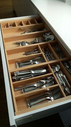 Small Kitchen Storage, Kitchen Cabinet Storage, New Kitchen Cabinets, Kitchen Drawers, Kitchen Organization, Kitchen Room Design, Kitchen Dinning, Modern Kitchen Design, Architectural House Plans