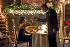 Here we are at the end of season 7, and the mysterious evolution of the Bonnie and Enzo ship is finally revealed. Raise your hand if you love Enzo a little bit right now? He's a charmer, a romantic, plays the guitar, and wears the hell out of a suit. Well done, Bonnie.