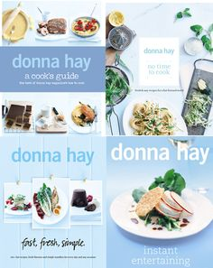 I don't really cook, but I always find myself buying cookbooks because of the photos. I would love to have a Donna Hay collection. I am in love with the textures and yes, that tint of blue.