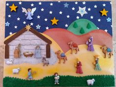 Nacimiento Nativity Crafts, Christmas Nativity, Christmas Cross, Xmas Crafts, Felt Crafts, Christmas Time, Christmas Ornaments, Christmas Patchwork, Christmas Embroidery