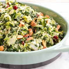 Shredded Kale and Brussels Sprout Salad.