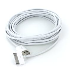 $6.99 (CLICK IMAGE TWICE FOR UPDATED PRICING AND INFO) For Apple Ipad 2 Data Cable Extra Long 6ft 6\' 6 feet USB Charge and Sync Data Cable for iPod touch itouch / Nano / iPhone 3G, 3GS, iPhone 4 / iPad, More Than Double the Length of the Standard Cord - 6FT 6 ft Long, FITS IPHONE 4 BUMPER AND ALL OTHER CASES - See More Ipad Accessories at http://www.zbuys.com/level.php?node=5675=apple-ipads