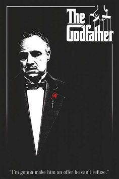 "The Godfather  (1972):  Francis Ford Coppola, Marlon Brando, Al Pacino, James Caan, Robert Duvall, Don Vito Corleone's New York City mafia family gangster drama mob war.  ""What are you worried about? If I wanted to kill you, you'd be dead already. Get in.""  Simply one of the best dramas ever filmed.  The sequels are also excellent."