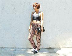 Calvin Klein Sports Bra, Theory Bag, Zara Pant, New Balance Sneakers
