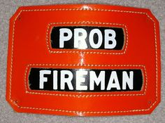Vintage Cairns & Brothers Orange Prob Fireman Insert to FDNY Front Shield Device