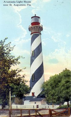 Saint Augustine Lighthouse - Saint Augustine, Florida (State Archives of Florida, Florida Memory, http://floridamemory.com/items/show/159773 W.J. Harris)