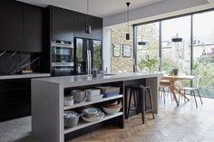 Clapham House – Kaap Studio House Extension Design, Glass Extension, Extension Designs, Extension Ideas, House Design, Kitchen Room Design, Modern Kitchen Design, Kitchen Decor, Victorian House Interiors