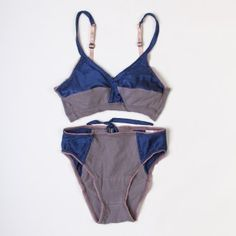 Navy and Grey Silk Keyhole Lingerie Set Lingerie Set c3184d05c