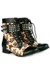 Leopard Combat boot - So Cool. we still have stock www.blackno1.com